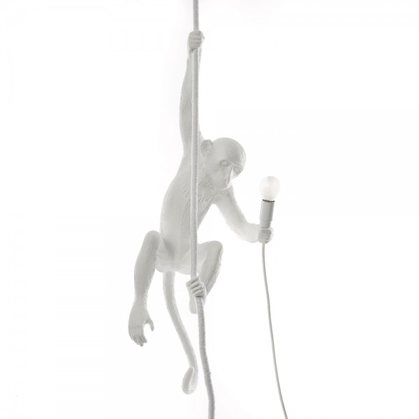 The Monkey Lamp Ceiling white. Seletti