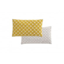 Cojín Silai rectangular Yellow-white. Gan