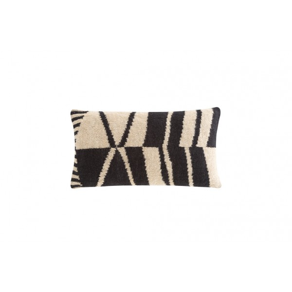 Cojín rectangular Rustic Chic Geo Black and white. Gan