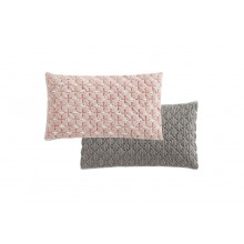 Cojín Silai rectangular Rose-light grey. Gan