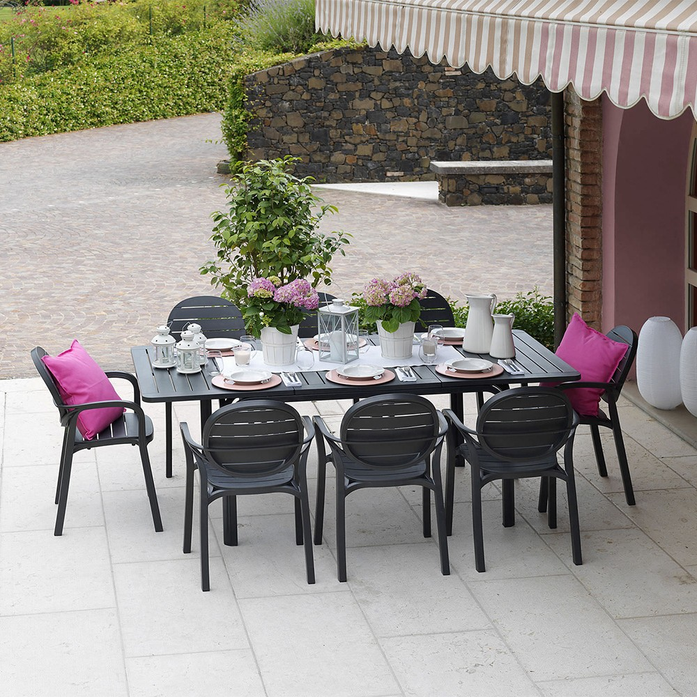 Mesa extensible alloro de nardi mobiliario de exterior for Muebles terraza outlet