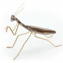 Escultura Praying Mantis Gold. Mambo