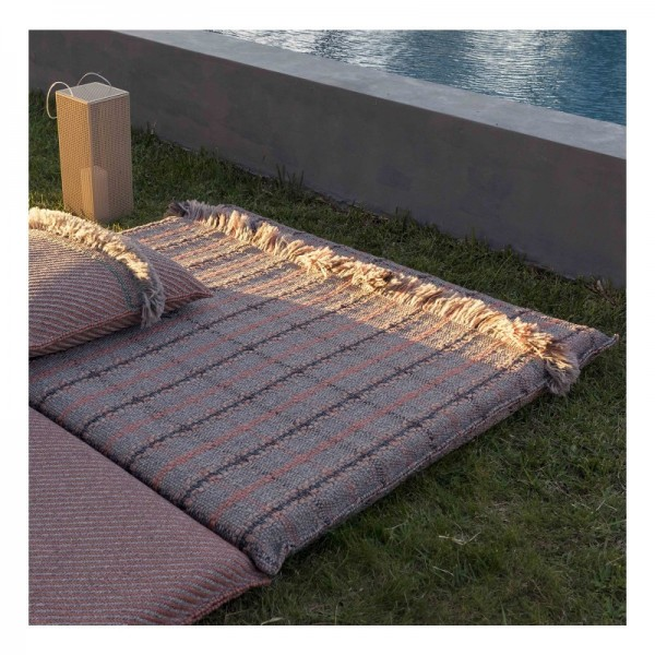 Colchoneta Big Garden Layers Tartan terracotta GAN