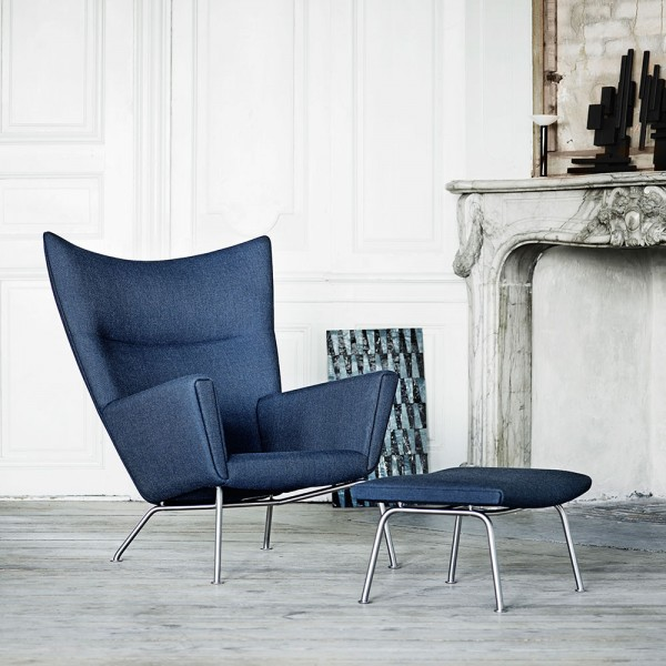 Reposapiés CH446 tela. Carl Hansen and Son
