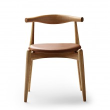 Silla CH20 Elbow piel. Carl Hansen and Son