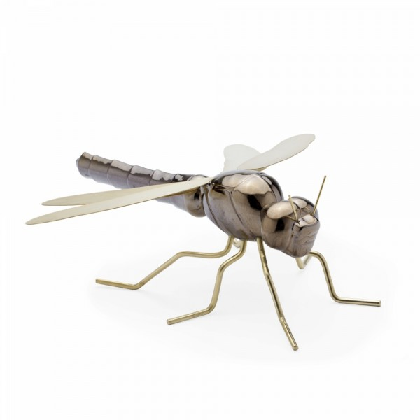 Escultura Dragonfly Gold. Mambo