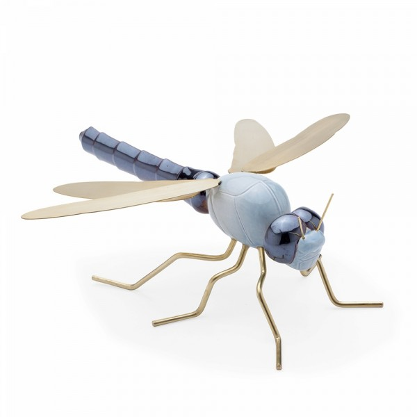 Escultura Dragonfly Color Blue. Mambo