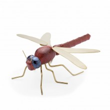 Escultura Dragonfly Color Red. Mambo