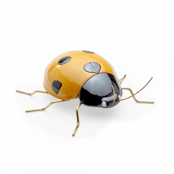 Escultura Ladybug Color Yellow. Mambo