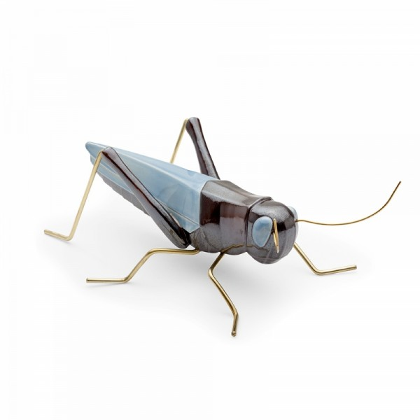 Escultura Grasshopper Color Blue. Mambo