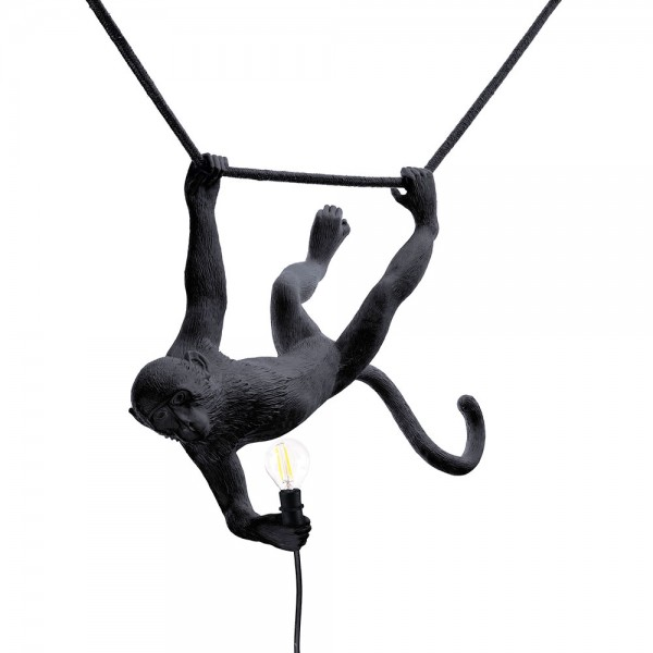 The Monkey Lamp Swing black. Seletti