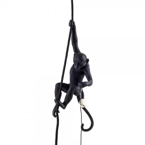 The Monkey Lamp Ceiling black. Seletti