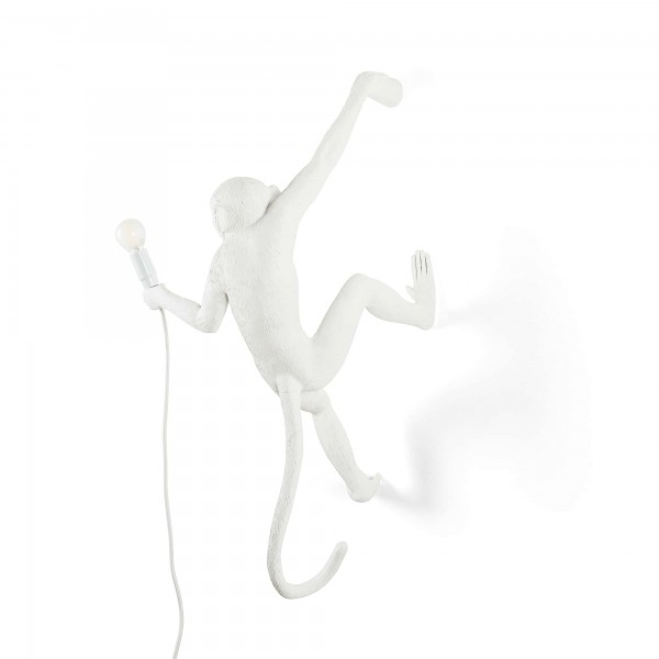 The Monkey Hanging Right Hand White. Seletti