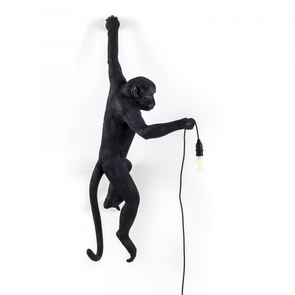 The Monkey Hanging Left Hand black. Seletti