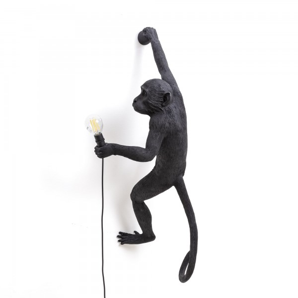 The Monkey Hanging Right Hand black. Seletti