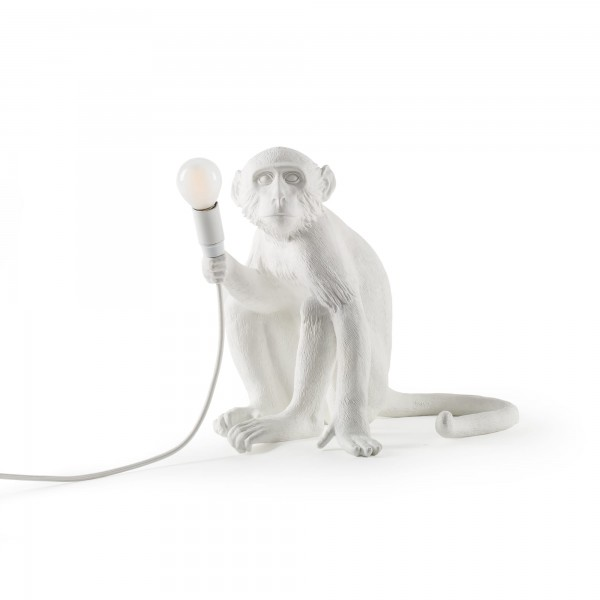 The Monkey Sitting white. Seletti