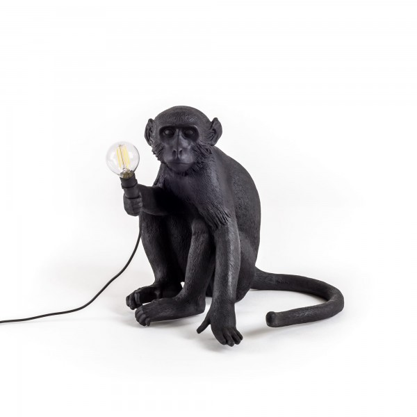 The Monkey Sitting black. Seletti