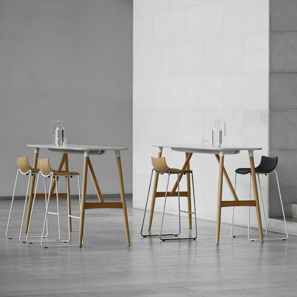 Taburete BA004F/BA005F Preludia Bar. Carl Hansen and Son