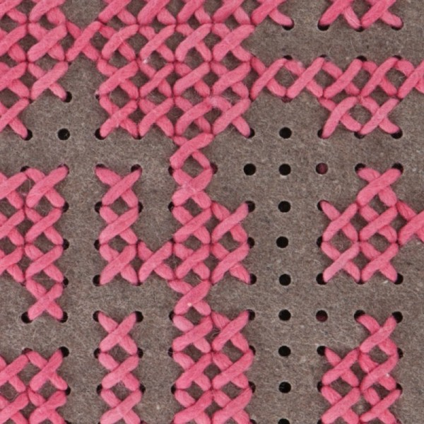 Cojín Canevas Abstract rosa medio. GAN
