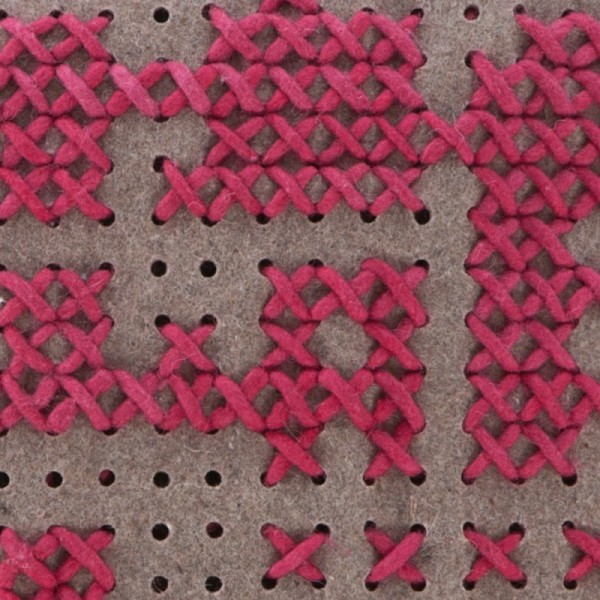 Cojín Canevas Abstract rosa. GAN