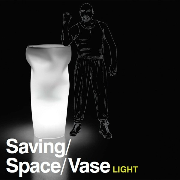 Macetero Saving/Space/Vase Light. Plust Collection