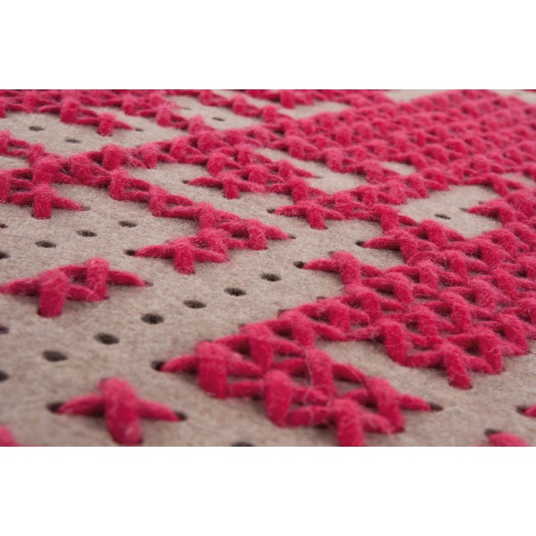 Alfombra Canevas Abstract rosa. Gan
