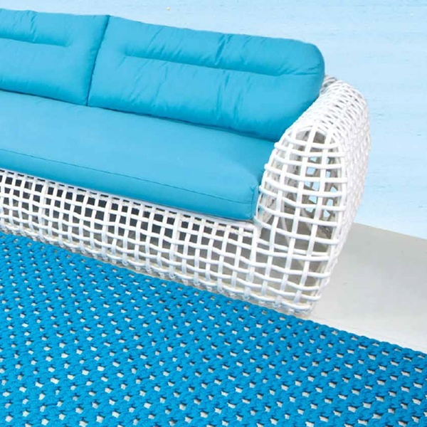 Alfombra Crochet Outdoor. Skyline