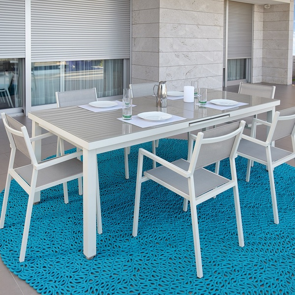 Alfombra Spin Outdoor. Skyline
