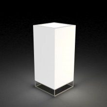 Macetero Cubo Alto Light Vela. Vondom