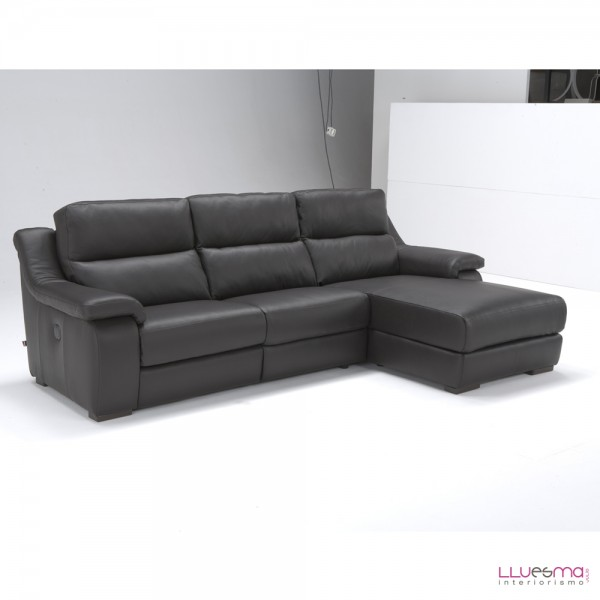 Sof 3 p 184 cm chaise longue 104cm de polo for Sofas chaise longue de piel