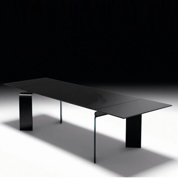 Mesa extensible Ray plus black. Fiam