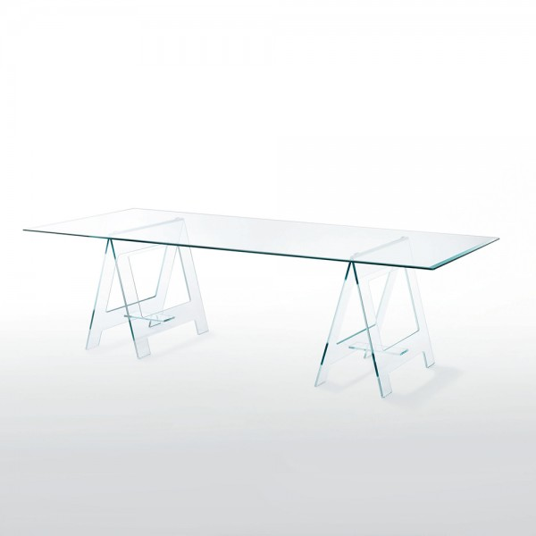 Mesa rectangular Don Cavalletto. Glas Italia