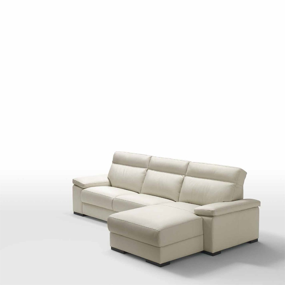 Sof merlino 2 plazas chaise longue de polo divani for Sofas chaise longue de piel