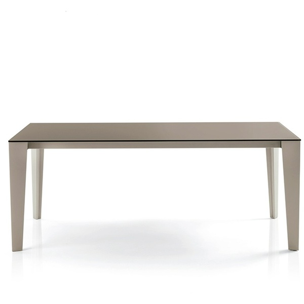 Mesa Cruz Cristal extensible. Bontempi