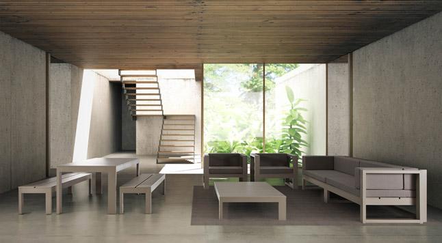 conjunto de sofas, sillon, mesa baja de gandia blasco coleccion na xemena