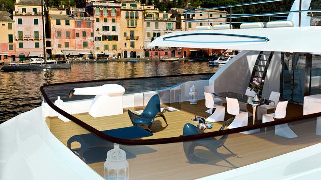 Mobiliario moderno y tumbonas de diseño