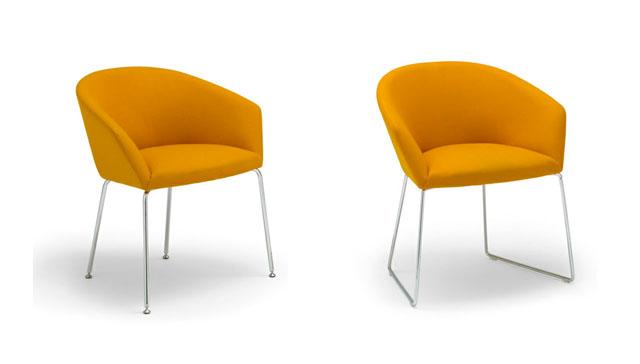 Premio en neocon sillas de dise o de andreu world for Sillas tapizadas de diseno