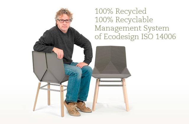 Asientos exterior reciclables de diseño, m114