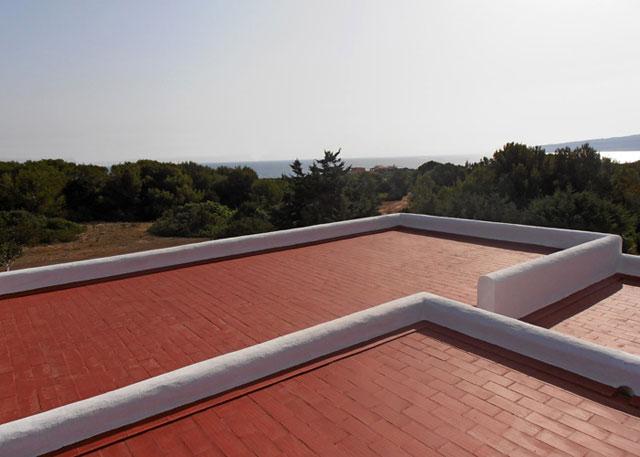 Terraza casa Tramontana en Formentera