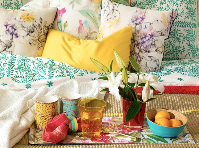 colores en almohadones y cojines