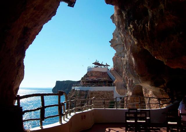 Espectaculares Vistas en Cova d´en Xoroi en Menorca