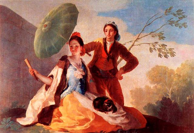 Mujer con parasol de Goya