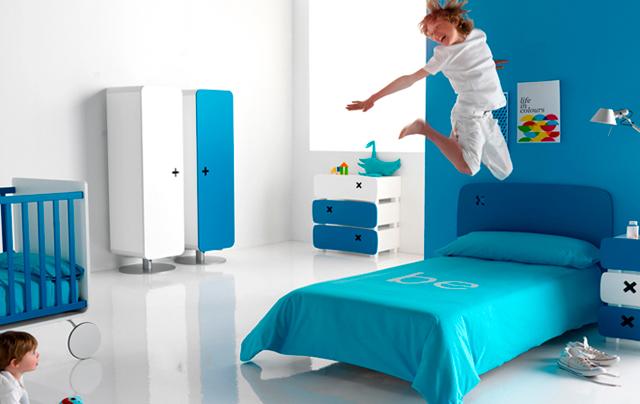 Habitación infantil azul ES Interiorismo