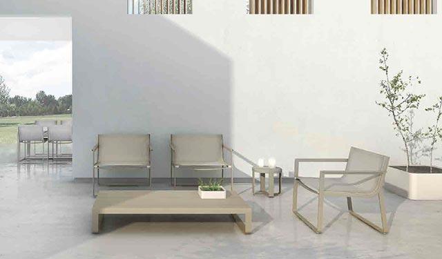 Muebles exterior Flat Textil