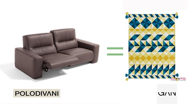 Sofa Polo Divani y alfombra gan