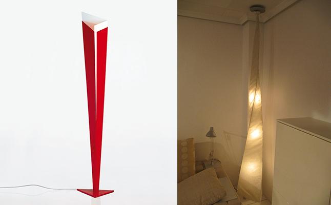 Lámpara de pie y suspensión