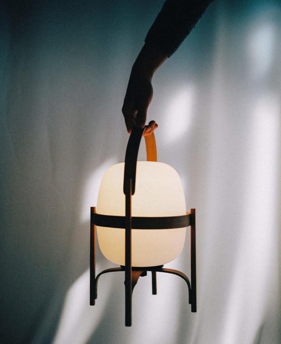 lamparas de diseño portatiles cestita santacole