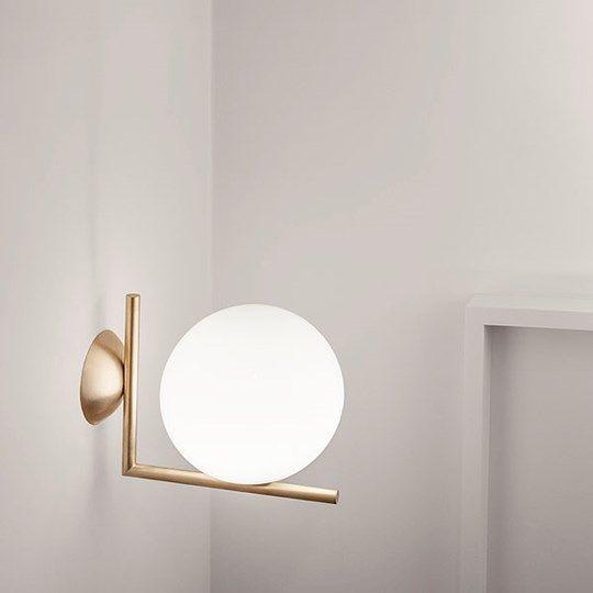 Lámparas de pared + techo IC C/W. Flos