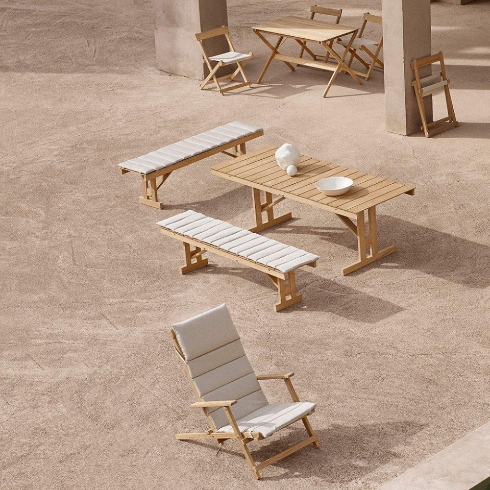 muebles de exterior para apartamento de playa