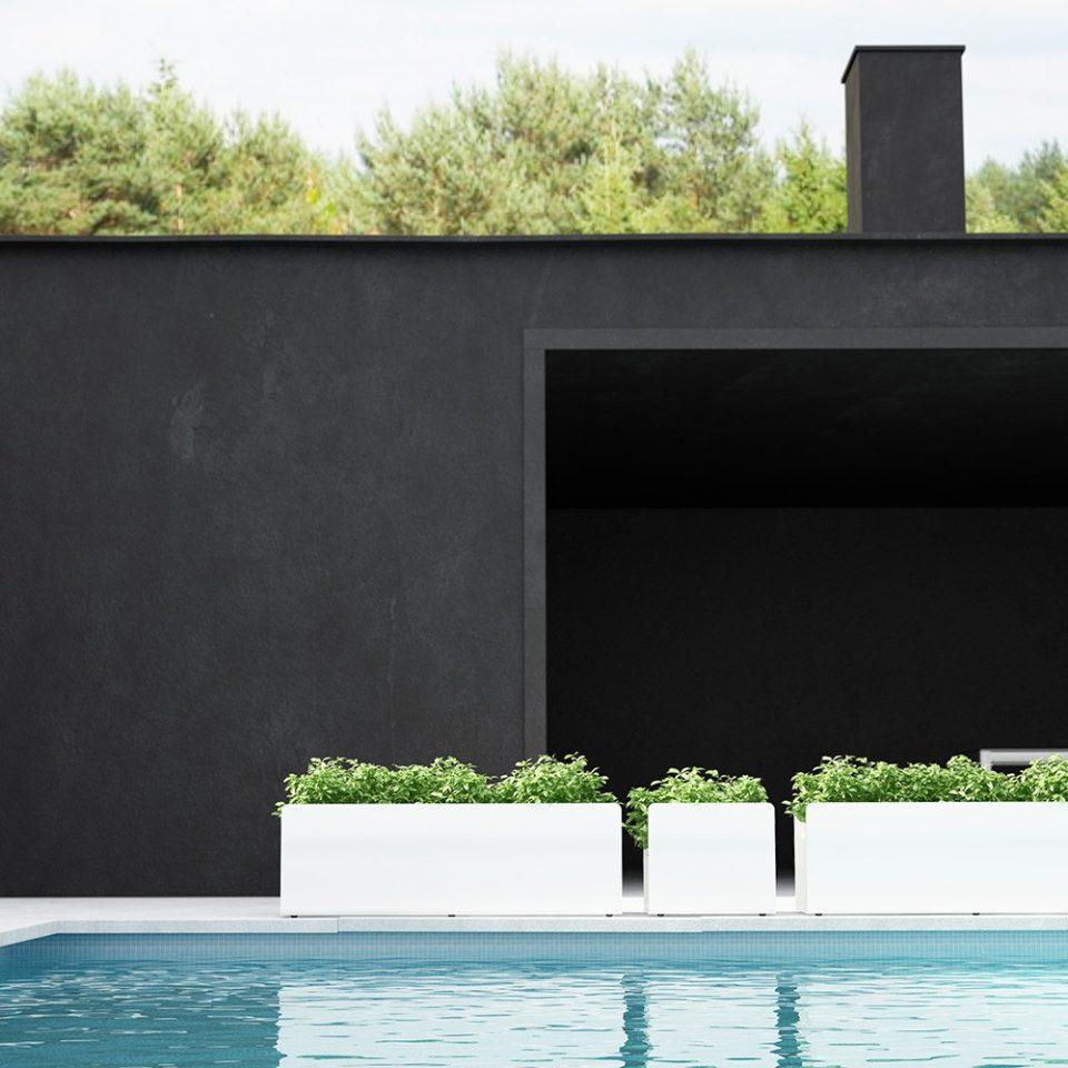 macetero terraza de diseño